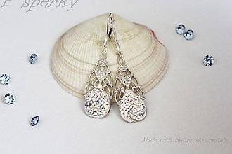 Náušnice - Originálne handmade náušnice so Swarovski crystals - 10792605_