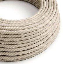Iný materiál - Textilný kábel, bavlna+ľan, Vertigo – slamená farba, 2 x 0.75mm, 1 meter - 10792435_