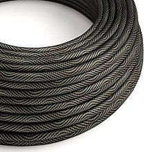 Iný materiál - Textilný kábel Optical Vertigo – čierna/šedá, 2 x 0.75mm, 1 meter - 10792439_