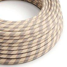 Iný materiál - Textilný kábel Vertigo – bavlna+ľan+medené vlákno, 3 x 0.75mm, 1 meter - 10792449_