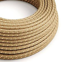 Iný materiál - Textilný kábel Vertigo – juta+medené vlákno, 3 x 0.75mm, 1 meter - 10792451_