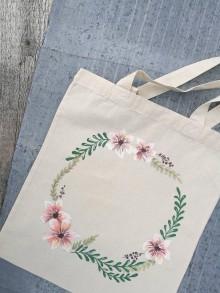 Nákupné tašky - Ručne maľovaná taška - 10793231_