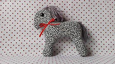 Hračky - Šitý koník v dekorácii (Modrá) - 10794588_