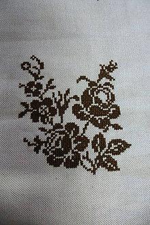 Drobnosti - výšivka ruže - 10792332_