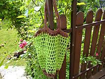 Nákupné tašky - Sieťka - síťovka - zelenkavá - 10793487_
