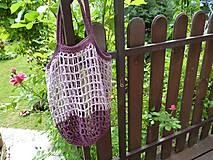 Nákupné tašky - Sieťka - síťovka - fialová - 10793500_