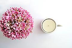 Svietidlá a sviečky - Svietnik na veľkú čajovku - zero waste - 10793471_