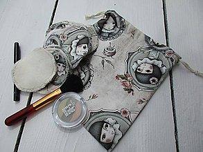 Úžitkový textil - sada odličovacích tampónov-dievčatko - 10793890_