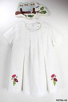Detské oblečenie - DETSKÉ ĽANOVÉ ŠATY AL. TUNIKA ❤️ - 10792792_