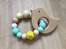 Detské doplnky - Set hryzátko + retiazka na cumlík + náhrdelník