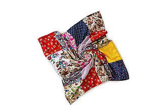 Textil - Pestrofarebná bavlnená deka pre bábätko s minky podšívkou / Martinko 01 - 10793455_