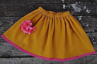 Detské oblečenie - Detská mušelínová sukňa - 10794355_
