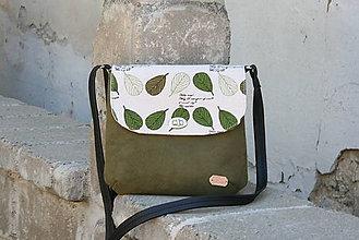 Kabelky - Ria zelená LISTY - 10792563_