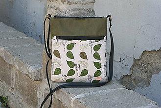 1005fbf00 Kabelky - Molly zelená LISTY - 10792596_