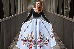 Sukne - Dlhá kruhová sukňa farebná 1 - 10792829_