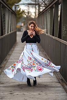 Sukne - Dlhá kruhová sukňa farebná 1 - 10792830_