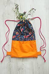 - Batoh oranžový na sťahovanie - 10794041_