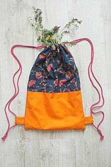 Batohy - Batoh oranžový na sťahovanie - 10794041_