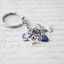 Kľúčenky - Kľúčenka - ochranný anjelik - 10793963_