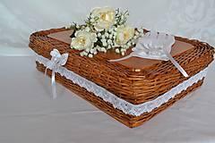 Košíky - Svadobný box na dobroty - 10792797_