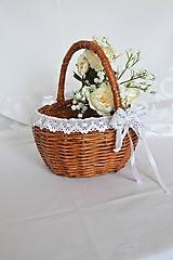 Košíky - Svadobný na lupene ruží - 10792863_