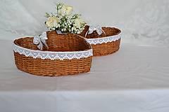Košíky - Svadobné srdce na pierka - 10792920_