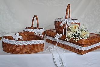 Košíky - Svadobný set PAULÍNKA - 10792732_