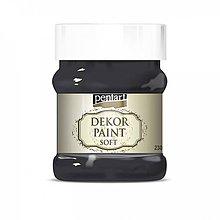 Farby-laky - Dekor paint soft - čierna, 230ml - 10793788_