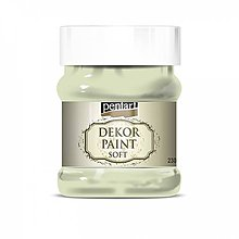 Farby-laky - Dekor paint soft - lišajníkovo zelená, 230ml - 10793829_