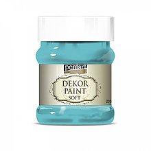 Farby-laky - Dekor paint soft - tyrkysovo modrá, 230ml - 10793945_