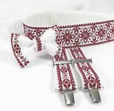 Opasky - Luxusný folk vyšívaný svadobný set II - 10792229_
