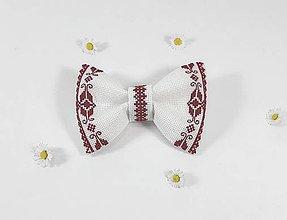 Doplnky - Pánsky motýlik II folk vyšívaný - 10792231_