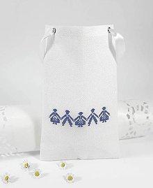 Úžitkový textil - Darčeková taštička IV folk vyšívaná - 10792248_