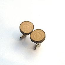 Šperky - Drevené manžetové gombíky - z platanovej halúzky - 10793082_