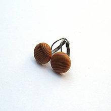 Náušnice - Drevené náušnice visiace - smrekovcové vypuklé krúžky - 10793812_