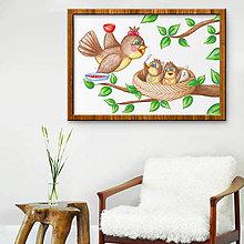 Detské doplnky - Vtáčia rodinka - leto - 10792032_