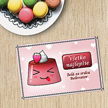 Papiernictvo - Puding pohľadnica - bláznivý (malinkový) - 10792276_