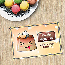 Papiernictvo - Puding pohľadnica - bláznivý (pomarančový) - 10792280_