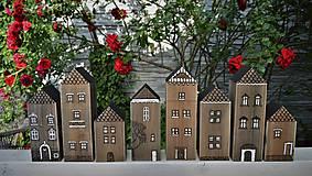 Dekorácie - Sada domčekov z malého mestečka - 10792071_