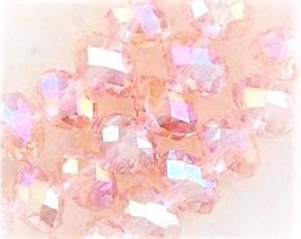 Korálky - Rondelka z bruseneho skla 3mm (Ružová) - 10795326_