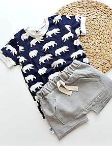 Detské oblečenie - Ľanové kraťasy - 10796035_