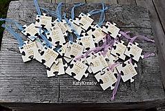 Kľúčenky - puzzle prívesky s menom - 10795250_