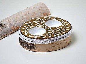 Prstene - Vankúšik pod obrúčky-drevený - 10796101_