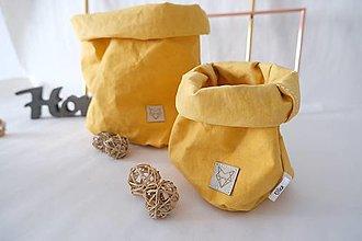 Košíky - Big home bag Yellow - 10795203_