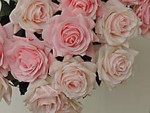 Iný materiál - Ruže ružové - 10795090_