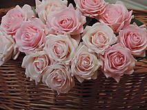 Iný materiál - Ruže ružové - 10795091_