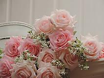 Iný materiál - Ruže ružové - 10795461_
