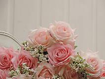 Iný materiál - Ruže ružové - 10795462_