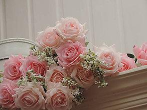 Iný materiál - Ruže ružové - 10795460_