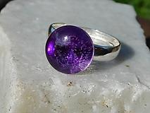 Prstene - ring with ametyst-striebro - 10795488_